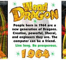 1904 1964 2024 Chinese zodiac born in year of Wood Dragon  by Valxart