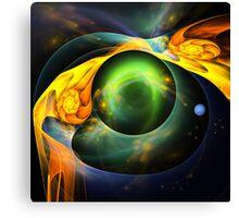 Around the blue Planet Canvas Print