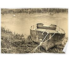 Row Boat (Sepia) Poster
