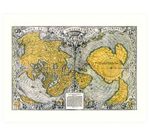 World Map 1531 Art Print