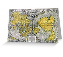 World Map 1531 Greeting Card