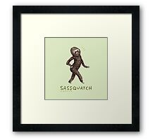 Sassquatch Framed Print