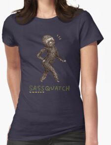 Sassquatch Womens Fitted T-Shirt