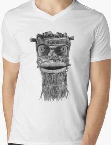 Indian Mask Mens V-Neck T-Shirt