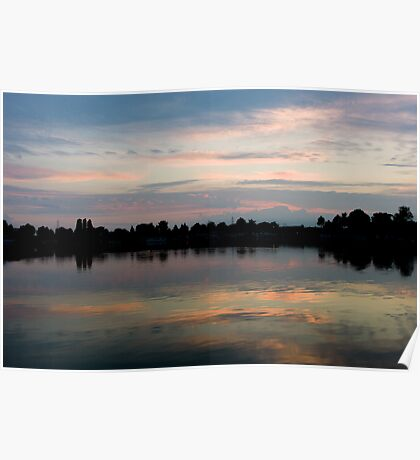 Sunset reflectional clouds, Poster