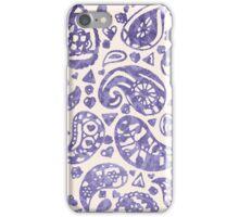 Purple Brocade Paisley Heart iPhone Case/Skin