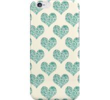 Emerald Brocade Paisley Heart Pattern iPhone Case/Skin