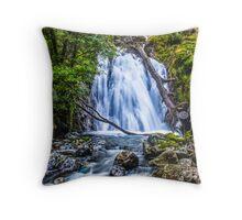 Waterfall At Cadair Idris Throw Pillow