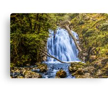 waterfall cadair idris Metal Print