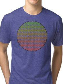 Circular autumn leaves Tri-blend T-Shirt