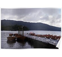 Pier onto Lake Windermere. Poster