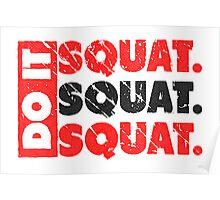 Do It. Squat.Squat.Squat. | Vintage Style Poster