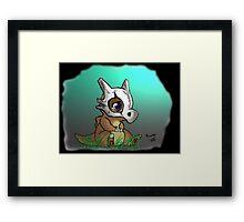 Cute Cubone Framed Print