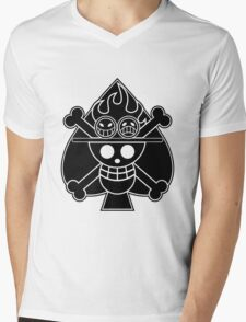 Ace - OP Pirate Flags Mens V-Neck T-Shirt