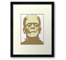 Frankenstein brown Framed Print
