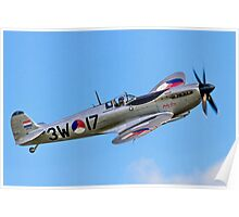"Spitfire LF.IXc MK732/3W-17 PH-OUQ ""Polly Grey"" Poster"