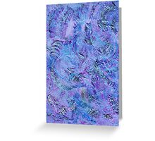 Cerulean and Mauve Handmade Abstract Background Greeting Card