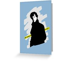 SHERLOCK BBC - Crime scene, do not cross. Greeting Card