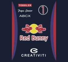Red Bunny F1 Racing Overalls by bouncebaby