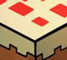 Minecraft Cake Sticker