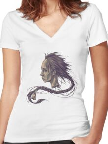 Stoneface Women's Fitted V-Neck T-Shirt
