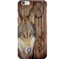 western country native dream catcher wolf art iPhone Case/Skin