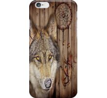western country native dream catcher wolf art iPhone Case/Skin