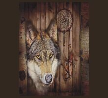 western country native dream catcher wolf art by lfang77