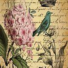 vintage paris hydrangea floral botanical art by lfang77