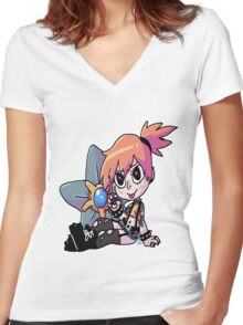Punk Misty Women's Fitted V-Neck T-Shirt
