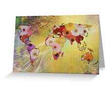 Floral Map Greeting Card