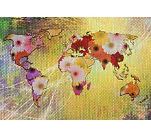 Floral Map Photographic Print