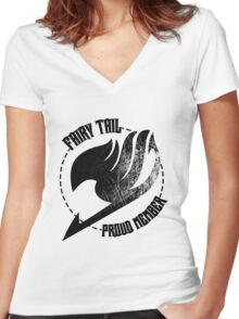 Fairy Tail - Proud Member Women's Fitted V-Neck T-Shirt