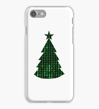 Christmas in the matrix iPhone Case/Skin
