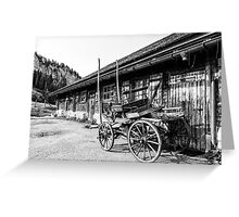 Wagon and wood pile Greeting Card