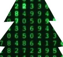 Christmas in the matrix Sticker