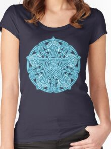 Celestial Celtic Knotwork Pentacle Women's Fitted Scoop T-Shirt