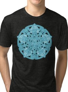 Celestial Celtic Knotwork Pentacle Tri-blend T-Shirt