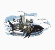 Steam Powered Sky Shark One Piece - Short Sleeve