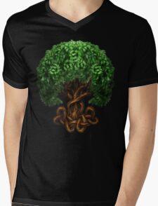 Celtic Tree of Life Knotwork Mens V-Neck T-Shirt