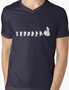 Snow White Silhouette  Mens V-Neck T-Shirt