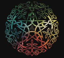 Elemental Celtic Knotwork Pentacle by Brigid Ashwood