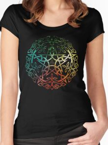 Elemental Celtic Knotwork Pentacle Women's Fitted Scoop T-Shirt