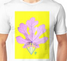 Fig Leaf Diamond Christmas Yellow Golden Unisex T-Shirt