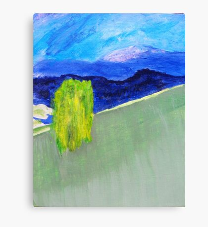 Willow on the Hill Canvas Print