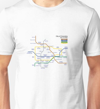 Bioshock Infinite - Columbia Sky-Line Map Unisex T-Shirt