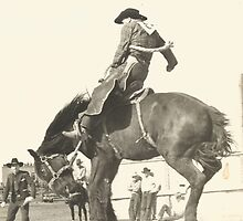 Jack Wade On Concussion - Phoenix Rodeo 1941 by Robert Stanford