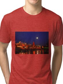 Full Moon over the Country Club Plaza in Kansas City. Tri-blend T-Shirt
