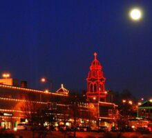 Full Moon over the Country Club Plaza in Kansas City. Sticker
