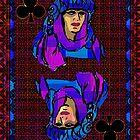 Pixel Queen of Clubs by RonMock